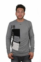 Dope Couture Patched Grey - Black Crewneck Sweatshirt Long Sleeve Pullover Shirt