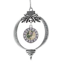 Inspired Silver Grand Daughter Apple Blossom Flower Circle Holiday Christmas Tre - $14.69