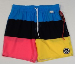 Volcom Multicolored Wide Stripe 4-Way Stretch Boardshorts Swim Trunks Mens - $44.99