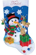 Design Works Busy Bunny Snowman Christmas Gifts  Holiday Felt Stocking Kit 5259 - $29.95