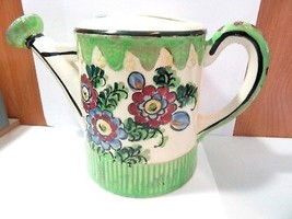 LOVELY LARGE CERAMIC WATERING CAN VINTAGE POTTERY MADE IN JAPAN  - $36.00