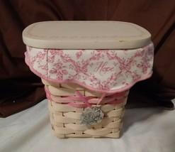 Longaberger 2004 WHITEWASH HORIZON OF HOPE Basket Breast Cancer Awarenes... - $18.00