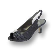 FLORAL Teri Women Wide Width Open Toe Decorative Jewel and Glitter Slingback - $53.95