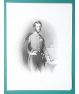 PRINCE STEPHEN Archduke of Austria and Bohemia - 1840s Engraving Antique... - $12.96