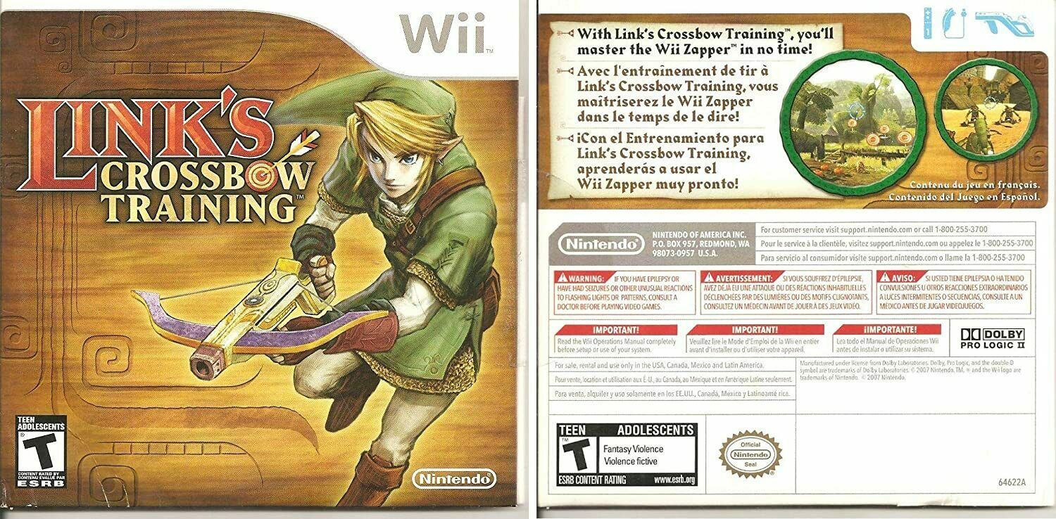 Primary image for Link's Crossbow Training Nintendo Wii 2007 Disc & Manual Very Clean Disc TESTED