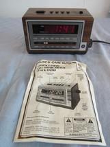 Vintage General Electric Alarm Clock AM/FM Radio 7-4601A with Manual - €16,56 EUR