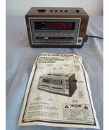 Vintage General Electric Alarm Clock AM/FM Radio 7-4601A with Manual - $18.84