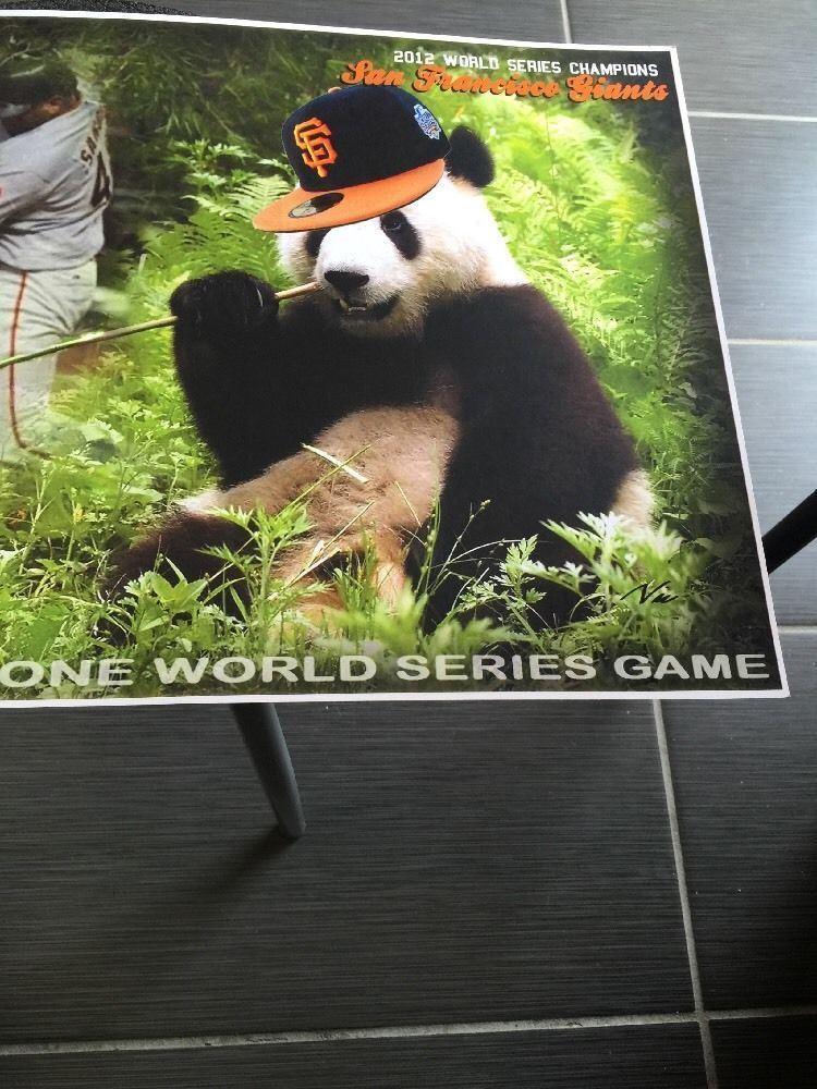 "Pablo Sandoval San Francisco Giants Champions Panda Poster 13"" X  19"""