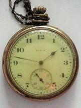 Antique 1920 Elgin 15j Pocket Watch 12s Parts or repair - $49.95