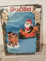 """Vintage Bucilla Needlepoint Kit NEW """"Santa's Sleigh"""" - $20.76"""