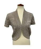 Love by Design women's cardigan cropped short sleeve size L - $14.19