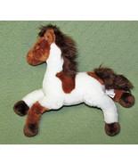 "Gund PAINT Jr Horse Pony Plush Stuffed White Tan 14"" Long 030072 Farm An... - $21.78"