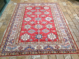 "Oriental Rug Fine super Kazak Wool  Hand Knotted Tribal Design Rug 5'8"" X 8'"" - $1,543.41"