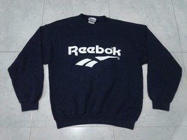 Vintage Reebok Big Logo SpellOut Sweatshirt Blue Colour Design HipHop St... - $85.00