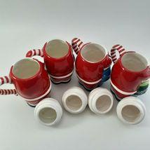 Temptations 24 oz Santa Mugs W/ Lids Set of 4 image 4