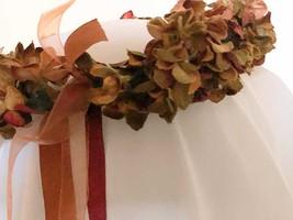 RUST FALL flowered handmade CIRCLET HEADPIECE renaissance medieval GARB ... - €17,61 EUR