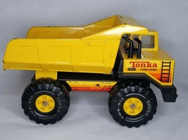 Vtg 1980's Tonka XMB-975 Pressed Steel Turbo Diesel Dump Truck Bxa - $44.99