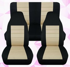 Front and Rear car seat covers Fits Jeep wrangler YJ-TJ-LJ 1985-2006  Camouflage - $169.99
