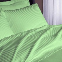 Extra Deep Pocket 6 PC Sheet Set 1200TC Egyptian Cotton US-Size Sage Str... - $62.63+