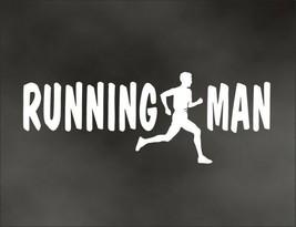 RUNNING MAN decal for marathon jogging runner for Olympic mile runner - $8.83