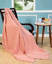 """100% Cotton Chevron Throw with hand knotted Tassel 50 x 60"""", pack of 2 p... - ₹2,168.99 INR+"""