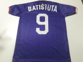 old soccer jersey fiorentina Italia t-shirt with 9 batistuta Reebok - $78.21
