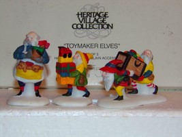 "Department 56 North Pole ""Toymaker Elves"" ~ Set Of 3 -NEW In Box - $12.74"