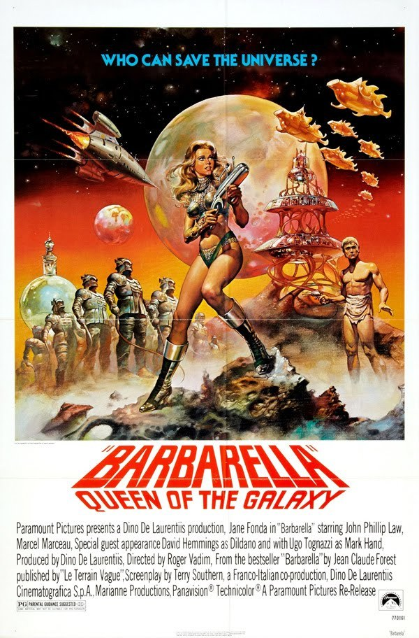 Barbarbella movie poster 27x40 who can save