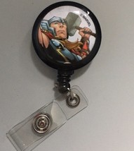 Thor Clip badge reel key card ID holder lanyard retractable Marvel Comics - $8.75