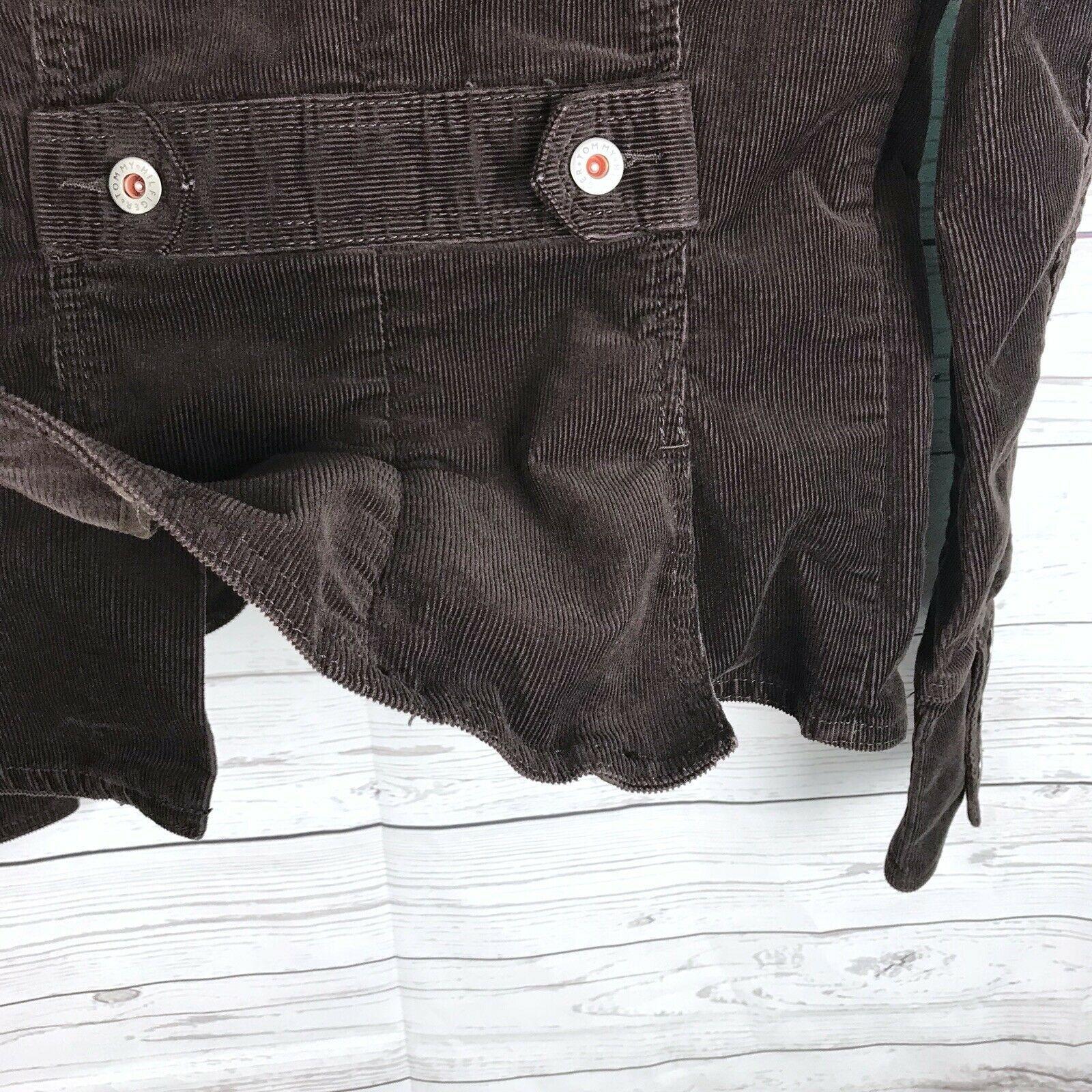 Tommy Hilfiger Corduroy Blazer Jacket Women's S Brown Stretch Button Long Sleeve image 9