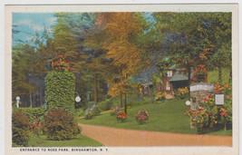 Entrance To Ross Park, Binghamton NY Postcard - $7.95