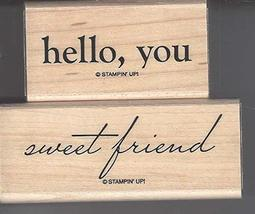 Stampin' Up! Hello, You Set of 2 Retired Stamps - $35.00