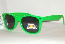 Neon Frog Green Premium Glare Blocking Polarized Sunglasses w Spring Hinge UV400 - $9.87