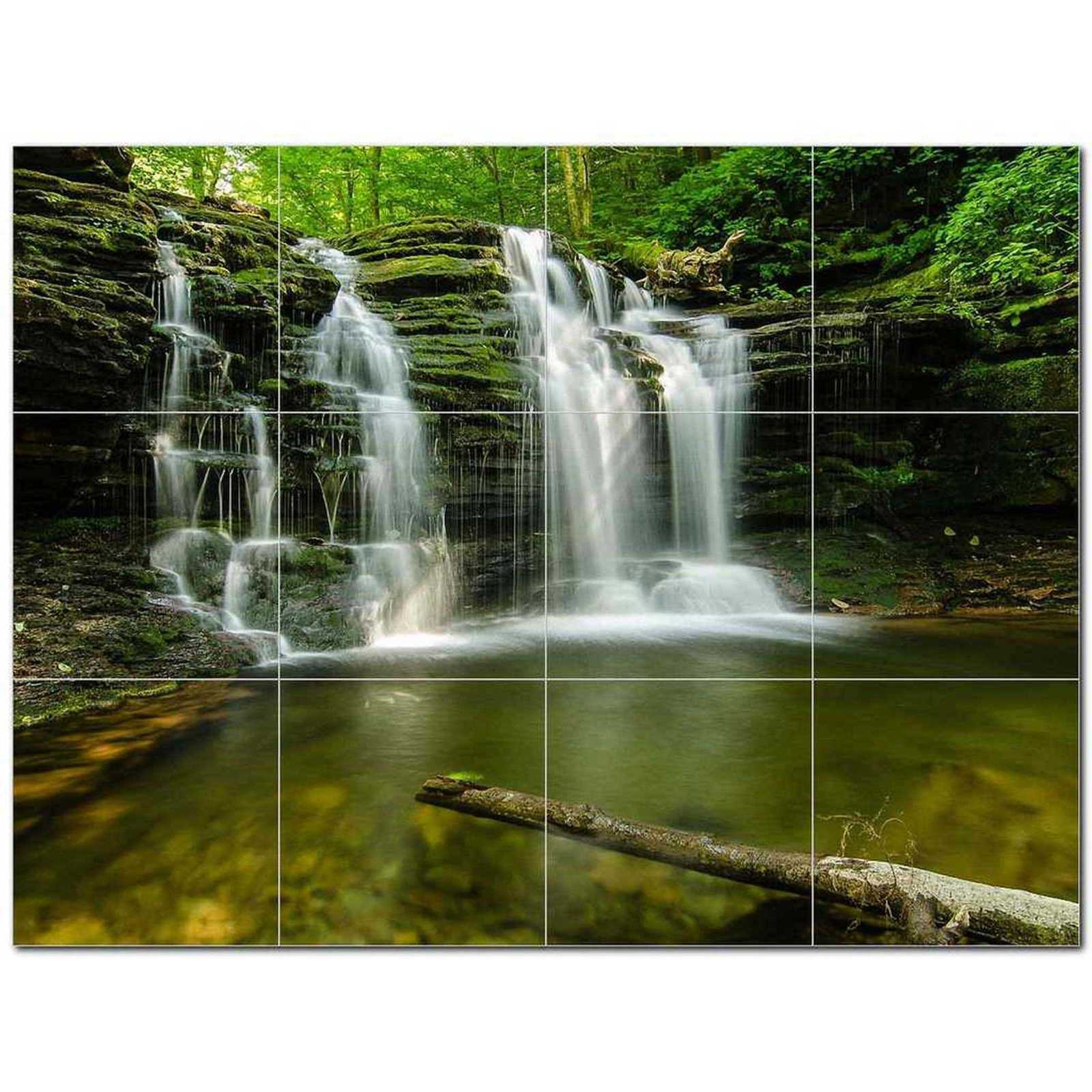Primary image for Waterfall Photo Ceramic Tile Mural Kitchen Backsplash Bathroom Shower BAZ406138