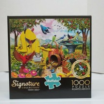 "Buffalo 1000 Piece Jigsaw Puzzle Signature Collection ""Hidden Birds"" w/P... - $19.99"