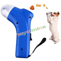 Dog Cat Treat Launcher Pet Interactive Fun Snacks Food Giving Training Toy - $7.99