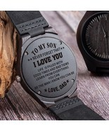 Wood Engraving Men Watch Family Gifts Personalized Watches Special Groom... - $28.69