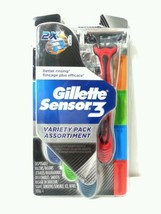 Gillette Sensor 3 Variety Pack Assortiment Disposable Razors Jetables To... - $5.90