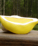 Vintage Crown Trifari© Lemon Slice Brooch, Yellow Enamel - $245.00