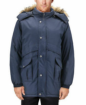 Men's Heavy Weight Winter Coat Removable Hood Puffer Parka Jacket w/ Defect L