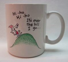 VINTAGE 1980's HALLMARK SHOEBOX HI HO ITS OVER THE HILL I GO COFFEE MUG CUP - $14.85