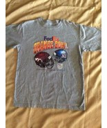 Fedex Orange Bowl Tee Size L Virginia Tech Vs Kansas - $14.84