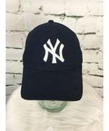 NY Yankees New Era Men's Sz S-M Hat Black Classic White Logo Fitted Pro ... - $19.79