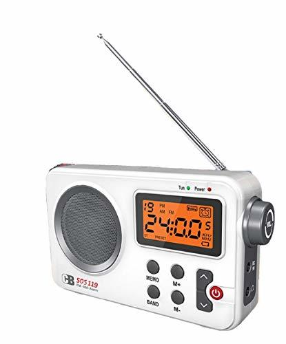 Coby 119 Battery USB Operated Hybrid Power Portable FM AM Radio Backlight Alram