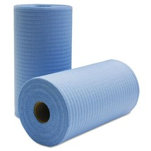 Tuff Job Scrim Reinforced Wipers, 9 3/4 X 275 Ft, Blue, 6 Rolls/carton - $163.65