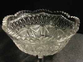 Higbee YOKE an CIRCLE 7x4 EAPG OVAL Bowl Oval NEW ERA Clear Glass 8 Toe ... - $19.00