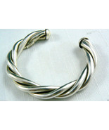 """HEAVY STERLING SILVER 925 MEXICO SIGNED  TWISTED CUFF BRACELET 6.25"""" $0 SH - $149.69"""