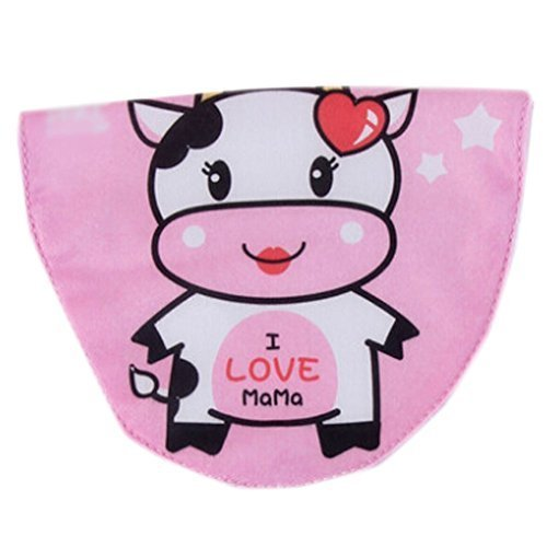 2 Lovely Cow Pink Baby Cotton Gauze Towel Wipe Sweat Absorbent Cloth Mat Towels