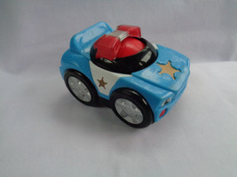 Mattel 2010 Fisher Price Police Car Rattling Roller Ball Under Car - $2.48