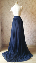 Navy Extra Long Tulle Skirt Wedding Full Maxi Wedding Bridesmaid Skirt Plus Size image 4